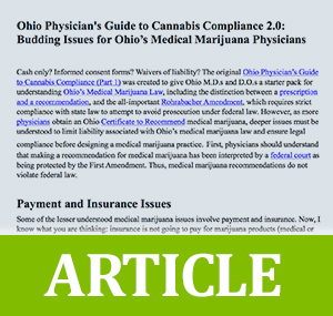 Ohio Physician's Guide to Cannabis Compliance 2.0